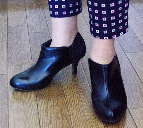 outletshoes ブーティ 黒×レース