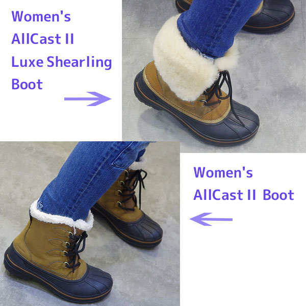クロックス オールキャスト 2.0 ブーツ 履き比べ