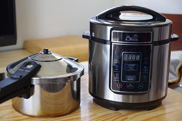 プレッシャーキングプロ ガス式圧力鍋 比較 口コミ