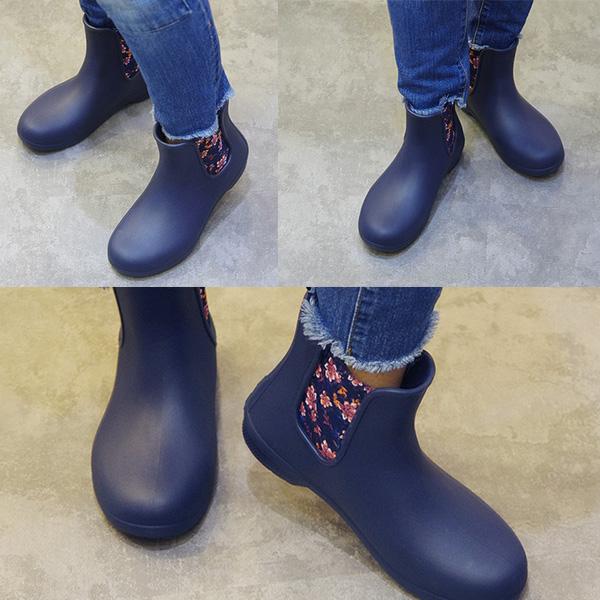 クロックス 長靴 ショート フリーセールチェルシー サイドゴア 口コミ 着用写真