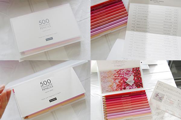 フェリシモ500色の色えんぴつ同胞品
