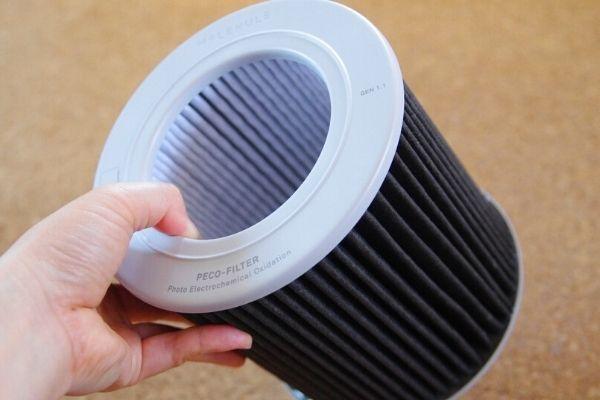 空気清浄機モレキュルエアーミニプラスのPECOフィルター。
