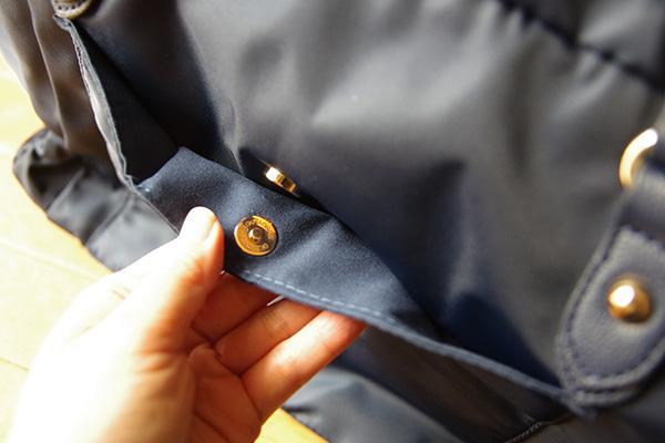 フェリシモことりっぷコラボバッグ磁石付き外側ポケット