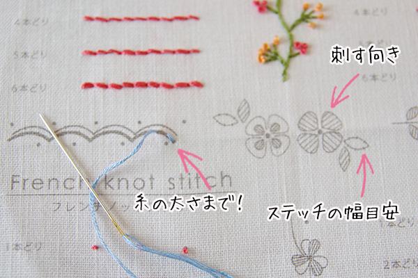 フェリシモクチュリエ刺繍きほんのきプリント済の図案口コミ