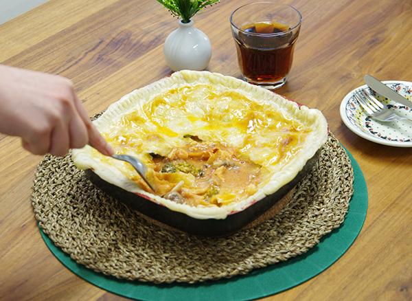 フレーバーストーンダイヤモンドエディションで作ったチキンのトマトクリームポットパイ