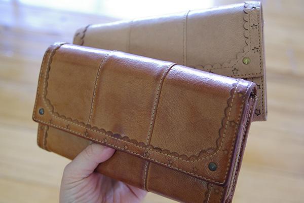 はまじとコラボはまじさん愛用のお財布と新品の比較