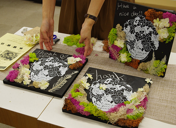 日比谷花壇×アーバングリーンメイカーズコラボフラワーボード作例
