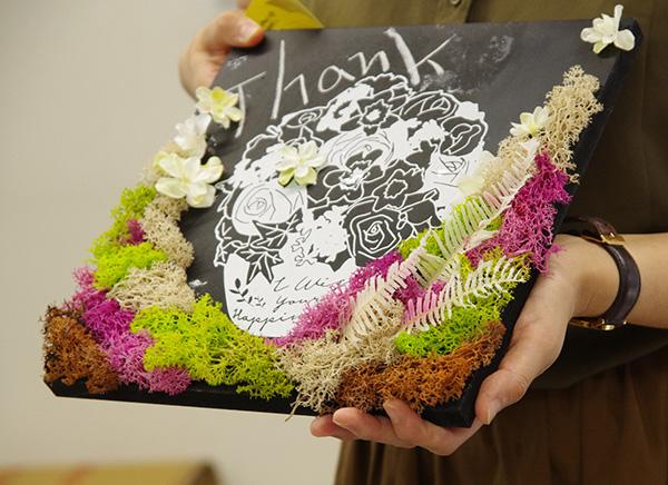 日比谷花壇×アーバングリーンメイカーズコラボフラワーボード完成品