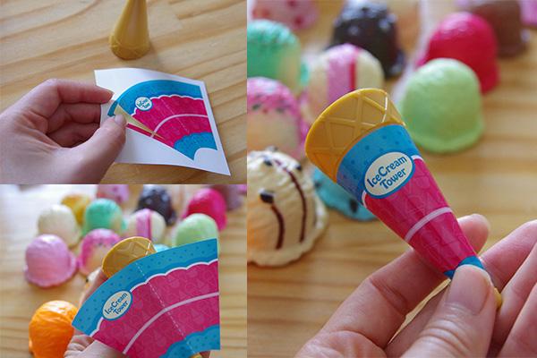 エポックアイスクリームタワー +3の使い方