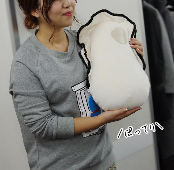 フェリシモユーモアなぜかかわいい もっちりクッション抱っこ牡蠣の口コミ