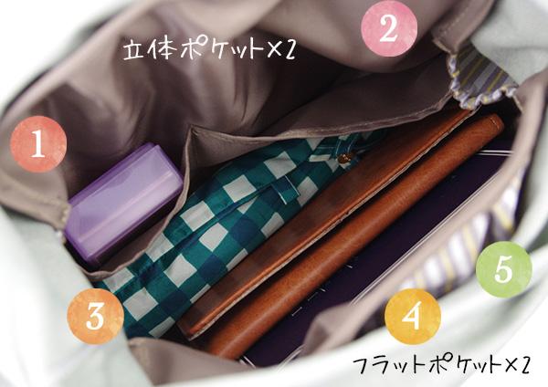 フェリシモリバーシブル目隠しインナーバッグの会の使用例
