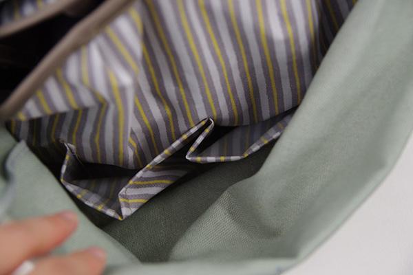 フェリシモリバーシブル目隠しインナーバッグの会のフラットポケット