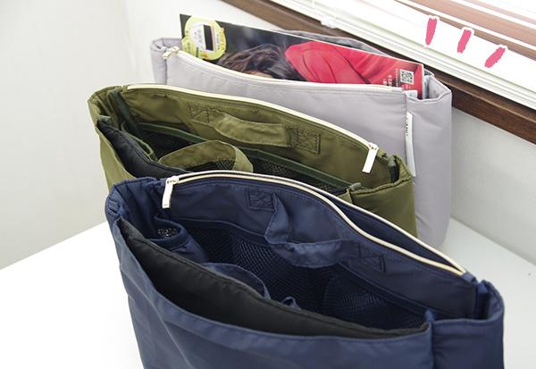 フェリシモすっきり整とん トートバッグのためのインナーポケットのサイズ感