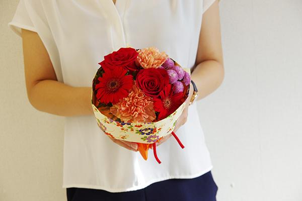 日比谷花壇 2018年 敬老の日 そのまま飾れるブーケ