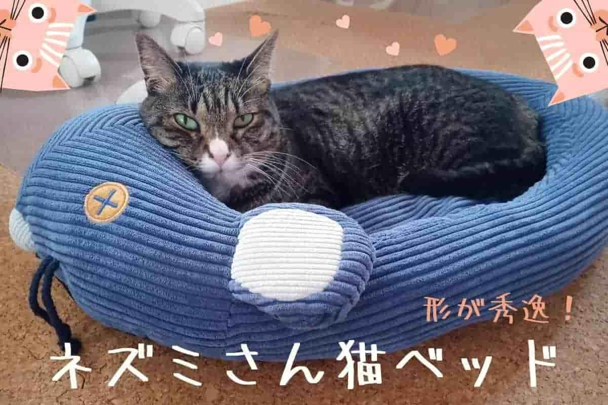 フェリシモ ネズミさんベッドを使ってみた!耳が動く猫ベッドは形状が秀逸